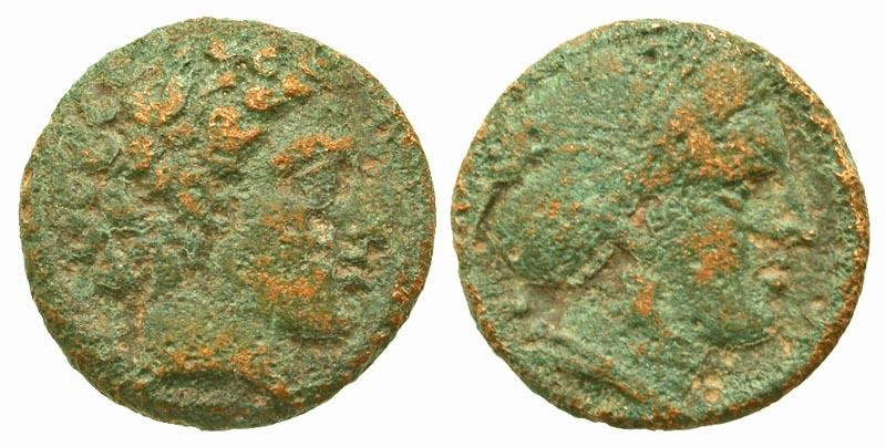 Thessaly, Phalanna. First half of the 4th century B.C. AE dichalkon.