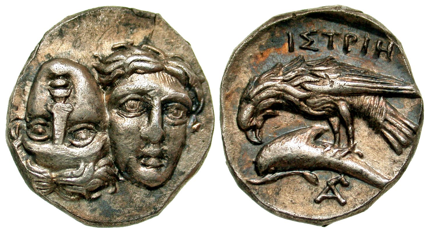 Moesia, Istros. 450-300 B.C. AR stater. From the D.Thomas Collection.