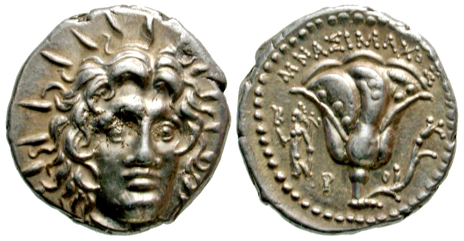 Islands off Caria, Rhodos. Rhodes. 250-229 B.C. AR didrachm. Mnasimachos, magistrate. From the D. Thomas Collection.